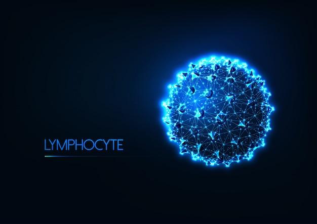 Futuristischer immunologiehintergrund