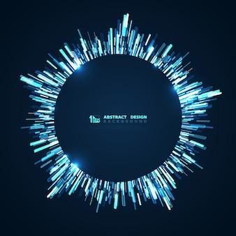 Futuristischer kreishintergrund der abstrakten technologie der blauen linie.