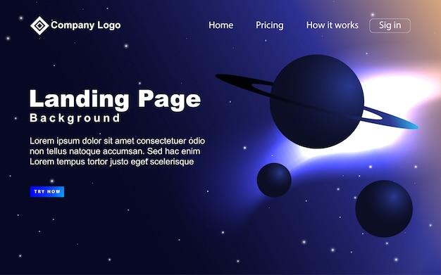 Futuristischer landing page hintergrund