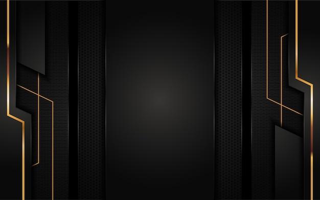 Futuristischer schwarzer abstrakter hintergrundentwurf. grafisches gestaltungselement.