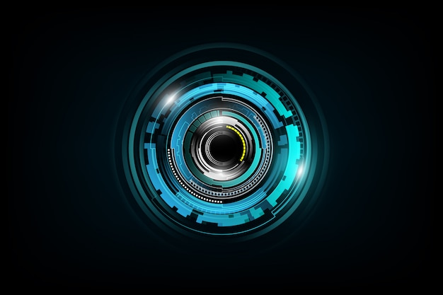 Futuristischer science-fiction-technologiemuster-konzepthintergrund Premium Vektoren