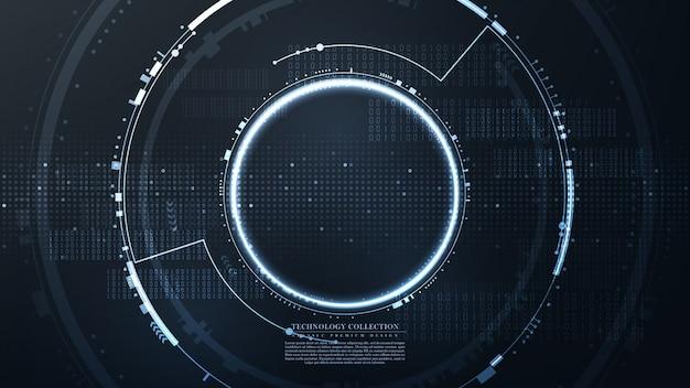 Futuristischer sechseckiger abstrakter hintergrundvektor der technologie
