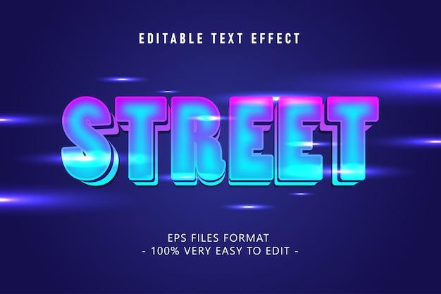 Futuristischer straßentext-effekt, bearbeitbarer text