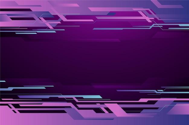 Futuristischer technologiehintergrund mit farbverlauf