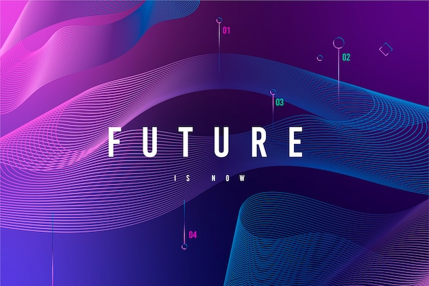 Futuristischer technologischer hintergrund