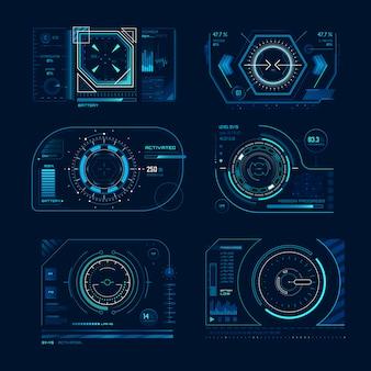 Futuristischer virtueller bildschirm