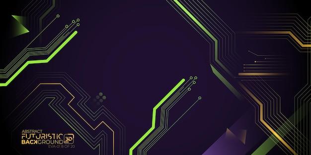 Futuristisches 3d-hintergrundkonzept abstrakte vektorgrafiken evangelion themen wallpaper