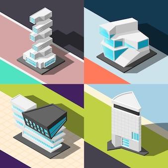 Futuristisches architekturkonzept