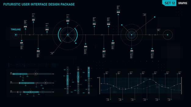 Futuristisches benutzeroberflächenelement
