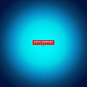 Futuristisches blaues neonradiallicht des digitalen konzeptes der technologie