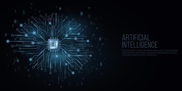 Futuristisches cover für künstliche intelligenz.