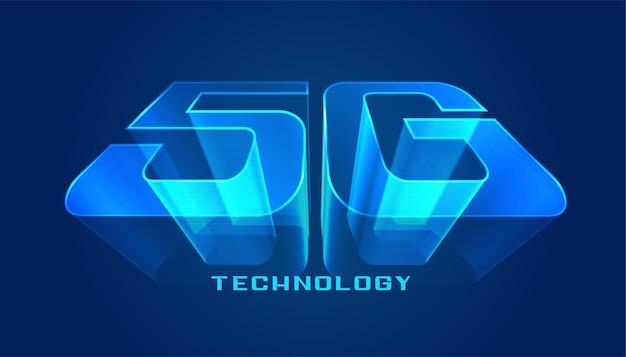 Futuristisches design mit 5g-technologie