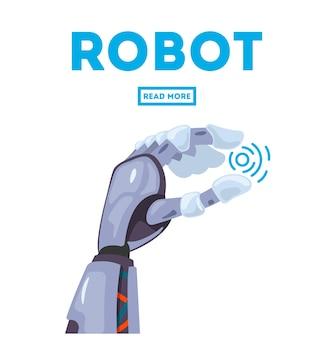 Futuristisches designkonzept eines mechanischen roboterarms.