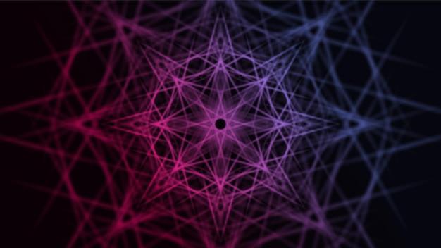 Futuristisches esoterisches psychedelisches dekoratives mandala buntes design Premium Vektoren