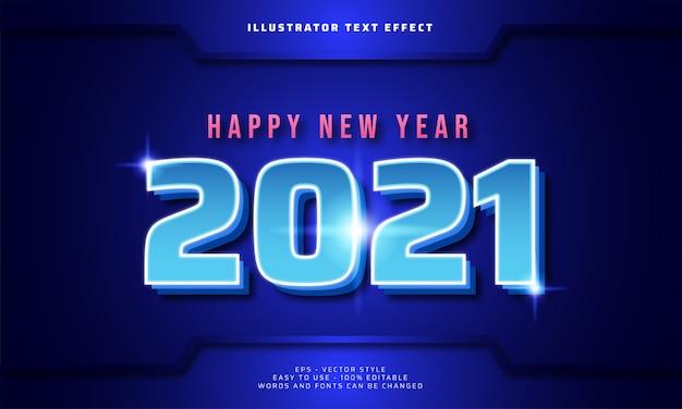 Futuristisches frohes neues jahr 2021