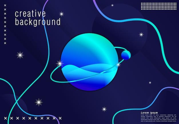 Futuristisches hintergrunddesign. in blauer form mit trendigen farbverläufen