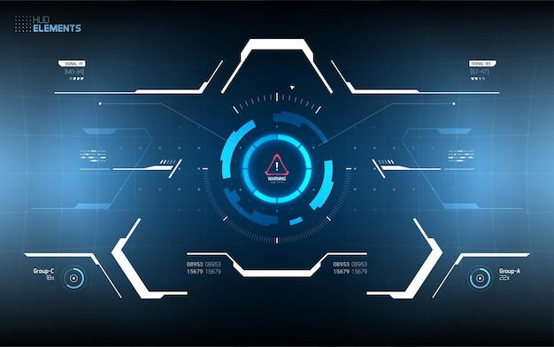 Futuristisches hud interface screen design