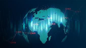 Futuristisches Konzept des globalen Netzwerks
