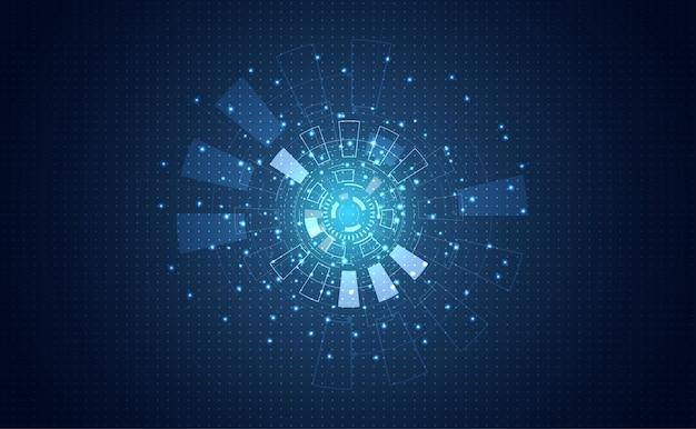 Futuristisches konzept kreis digitale programm kommunikation
