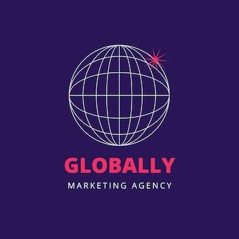 Futuristisches logo der marketingagentur