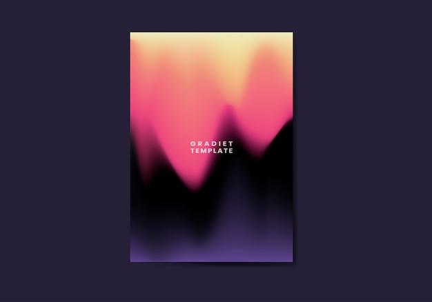 Futuristisches plakatdesign