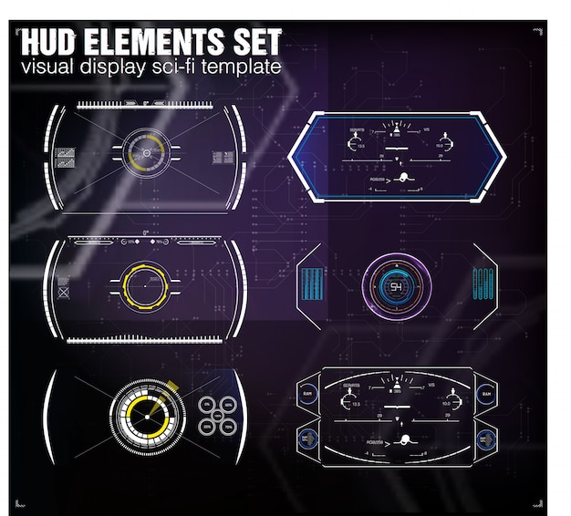 Futuristisches vr-head-up-display-design. sci-fi helm hud. future technology display design.