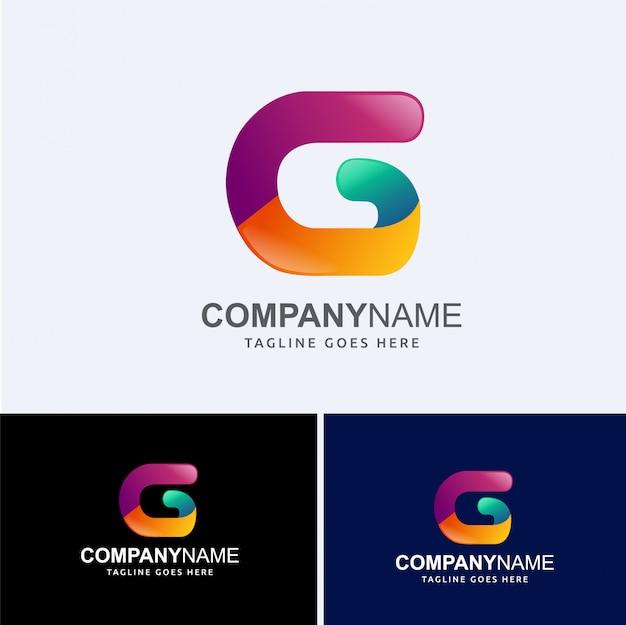 G abstrakter buchstabe logo