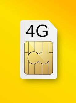 G-sim-karte für mobile telekommunikationstechnologie-symbolvektor-vorratillustration
