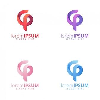 G und p logo consept apps logo