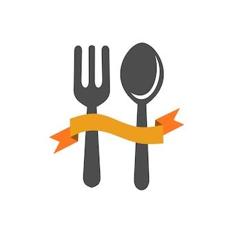 Gabel und löffel vorlage logo