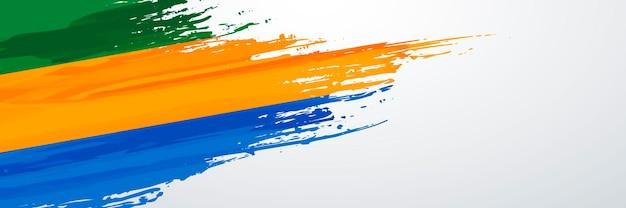 Gabun banner flagge
