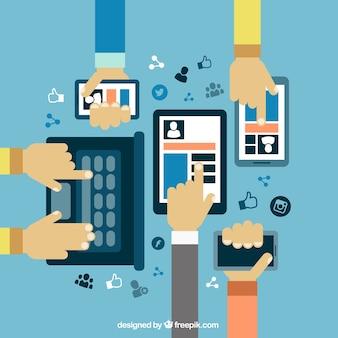 Gadgets mit sozialen netzwerken