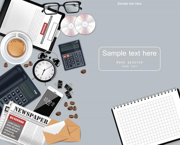 Gadgets und bürobedarf business-sammlung