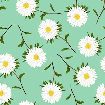 Gänseblümchen auf grünem hintergrund