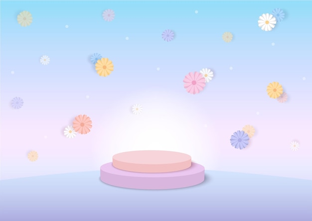 Gänseblümchen blüht frühlingssaisonhintergrund