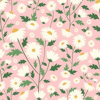 Gänseblümchen blüht nahtloses muster