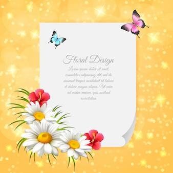 Gänseblümchen-realistischer brief