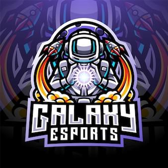 Galaxy astronaut esport maskottchen logo