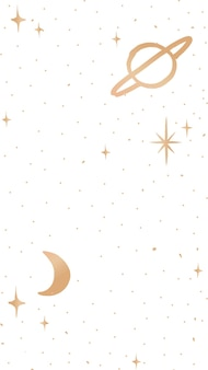 Galaxy handy wallpaper süßer doodle-stil