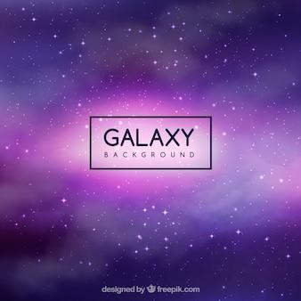 Galaxy hintergrund in lila tönen