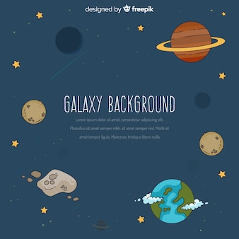 Galaxy-hintergrund-konzept