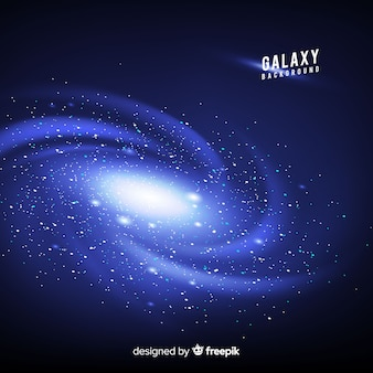 Galaxy hintergrund mit realistischem design