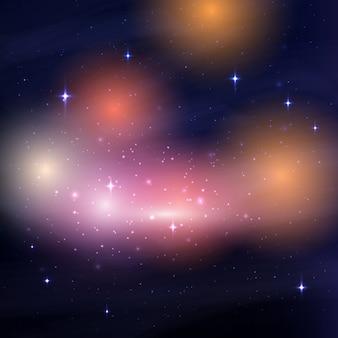 Galaxy nachthimmel