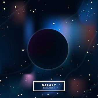 Galaxy schwarzes loch hintergrund