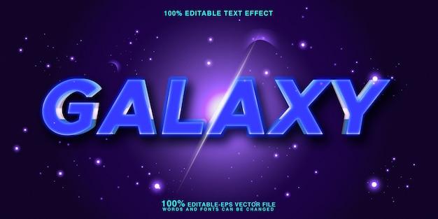 Galaxy text style effekt