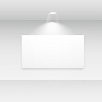 Galerie interieur mit leeren rahmen