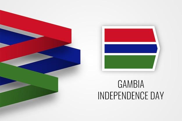 Gambia unabhängigkeitstag feier illustration vorlage design