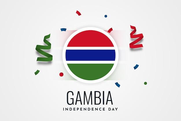 Gambia unabhängigkeitstag feier vorlage design