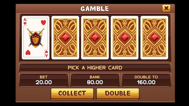 Gamble-bildschirm für slots-spiel