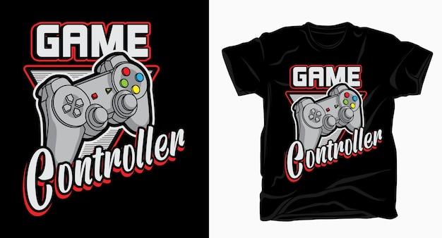 Game controller typografie für t-shirt design